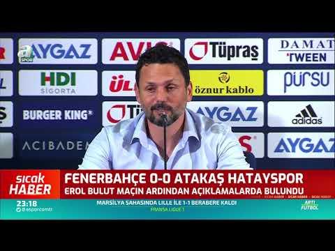 Erol Bulut'tan Flaş Derbi Sözleri / Fenerbahçe - Hatayspor Maç Sonu Basın Toplantısı