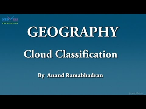 Cloud Classification | Geography | NEO IAS