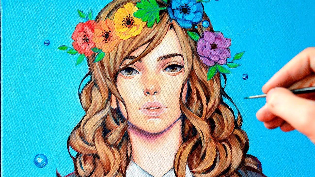 【Oil Painting】Flower Crown