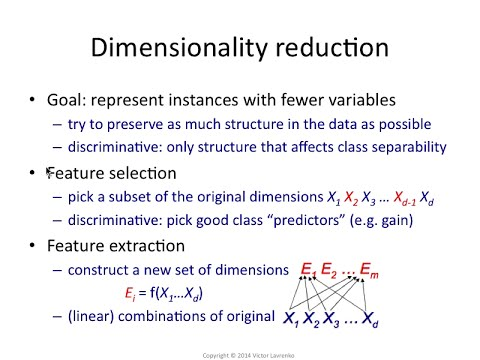 PCA 5: Feature selection and feature extraction