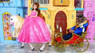 Beauty and The Beast Princess Bell Morning Putri Bell boneka Barbie Boneca da princesa Bell