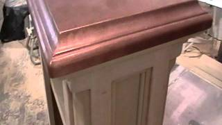End Table With Copper Top....