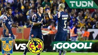¡Goool del América! Viñas aparece  Tigres 0 - 1 América   Liga Mx - AP 19 - 4tos de final   TUDN