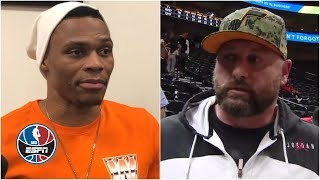 Russell Westbrook, Jazz fan share their sides to heated exchange | NBA on ESPN