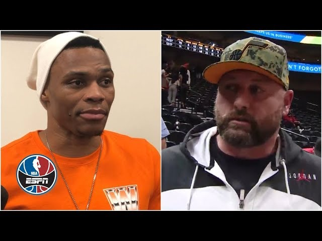 Russell Westbrook, Jazz fan share their sides to heated exchange   NBA on ESPN