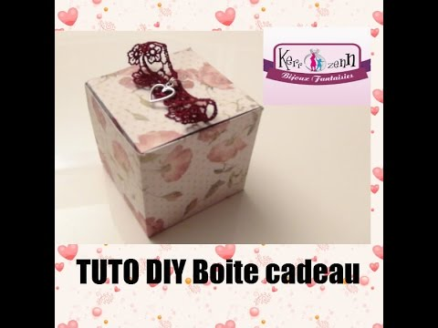 tuto loisirs creatif diyboite cadeau facile a faire en papier idee creative youtube. Black Bedroom Furniture Sets. Home Design Ideas