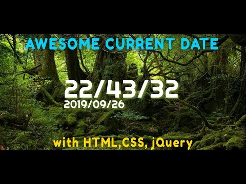 Current Date Show In BROWSER | HTML,CSS,jQuery