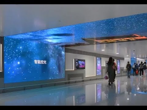Creative DOOH corridor at Chongqing Jiangbei Airport | JCDecaux China