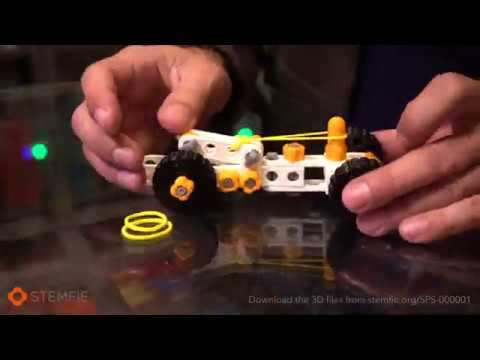 STEMFIE - 3D-printable rubber-band-driven car (SPS000001)