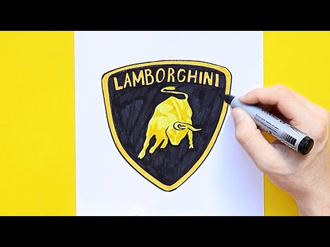 How to draw Lamborghini Bull Logo