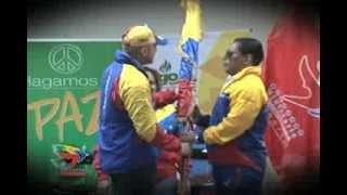 Ministro Álvarez abanderó atletas criollos para Juegos Parasuramericanos Chile 2014