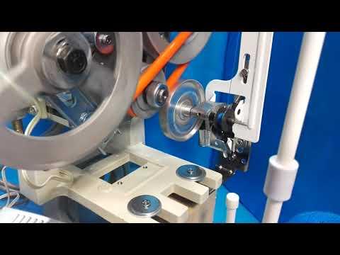 贅沢減速サーボモーターと、付属の下糸巻き装置の動画