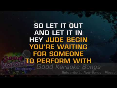 Hey Jude -  The Beatles (Lyrics Karaoke) [ goodkaraokesongs.com ]