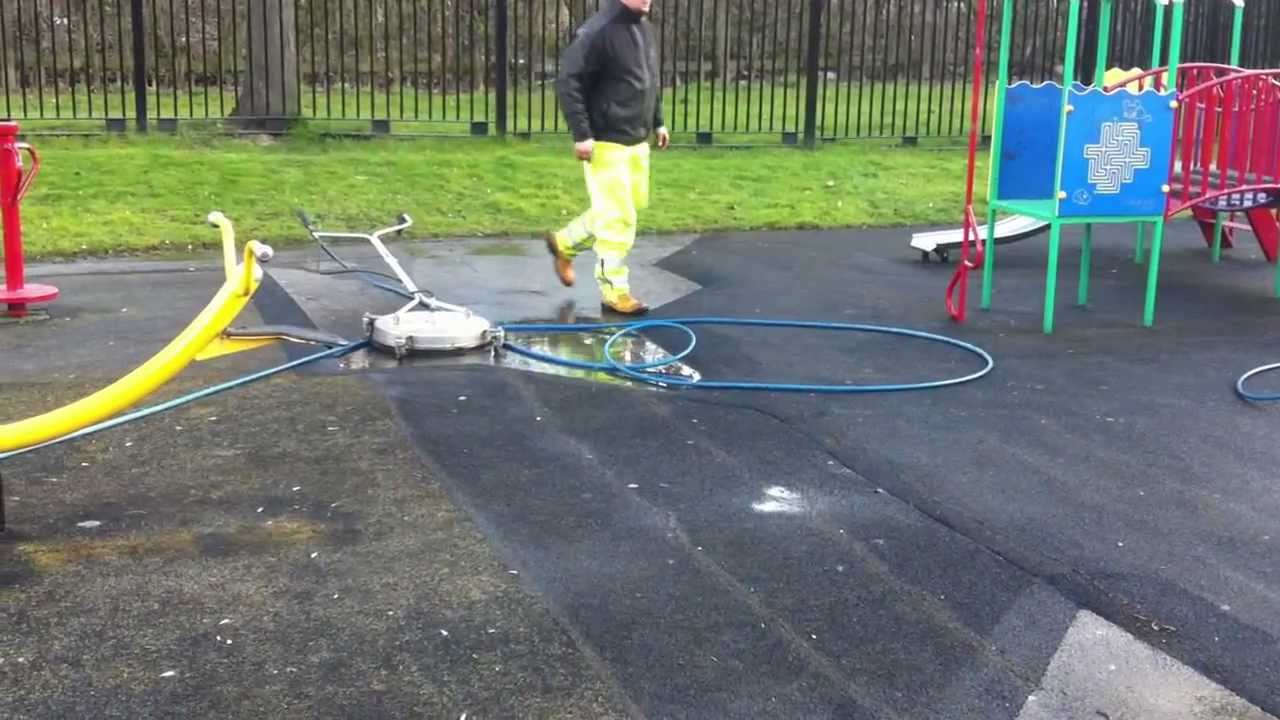 Cleaning Children S Playground Wet Pour Rubber Youtube