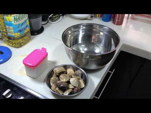 How to wash and clean clams 如何清洗蛤蜊