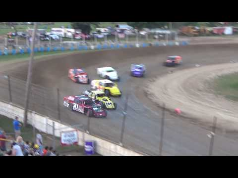 I.M.C.A. Heat Race #2 at Crystal Motor Speedway, Michigan on 07-22-2017.
