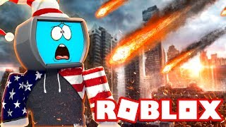 A METEORITE DISTRUGGE THE CITY of Roblox (Natural Disasters ITA)