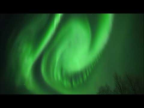 Dansend noorderlicht boven Zweeds Lapland