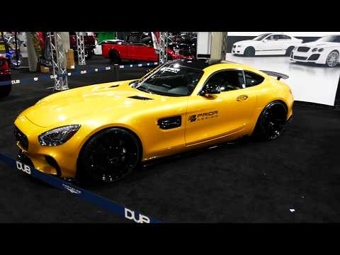 Custom Mercedes Benz AMG GT & Custom Audi R8 Exotic Cars - 2017 LA Auto Show - The Garage