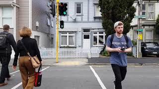 Walking back from Victoria University of Wellington