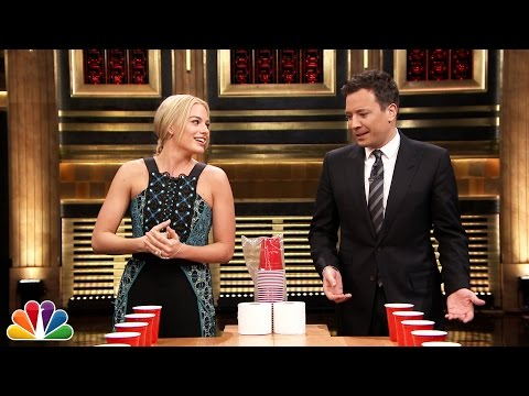 Flip Cup with Margot Robbie video
