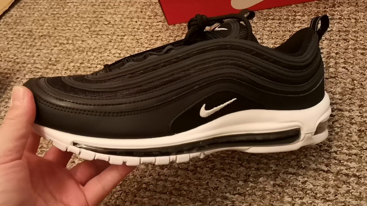 Nike Air Max 97 (Black/White Noir/Blanc) Unboxing On Feet