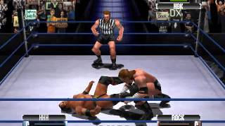 Triple H vs The Rock | Shawn Michaels guest referee | WWF NO MERCY