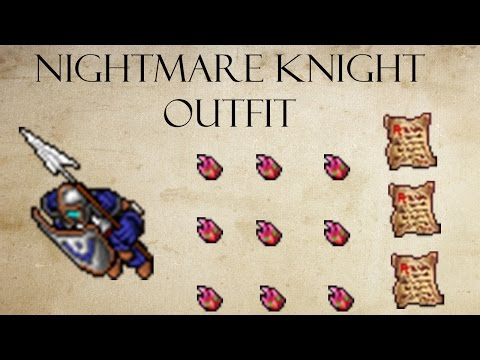 Tibia - Nightmare Knight & Brotherhood of Bones Outfit Full [Dreamer's Challenge]
