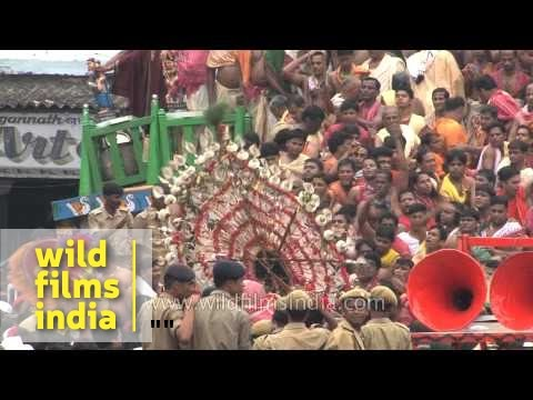 Devotees carry the idols during Jagannath Rath Yatra - Puri, Odisha