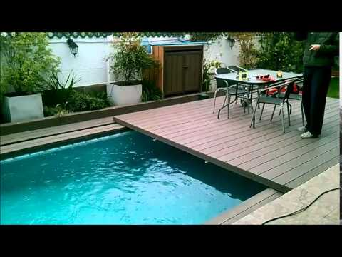 Piscina y terraza youtube for Piscinas desmontables para terrazas
