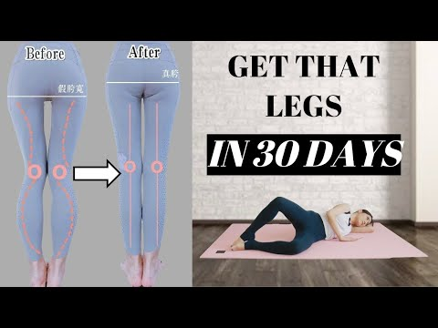 Longer & More Straight Legs in 30 Days | 8 Best Exercises to fix false wide hip, 5 mins!【Eng Sub】