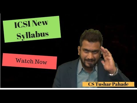 ICSI New Syllabus is Here || Must Watch