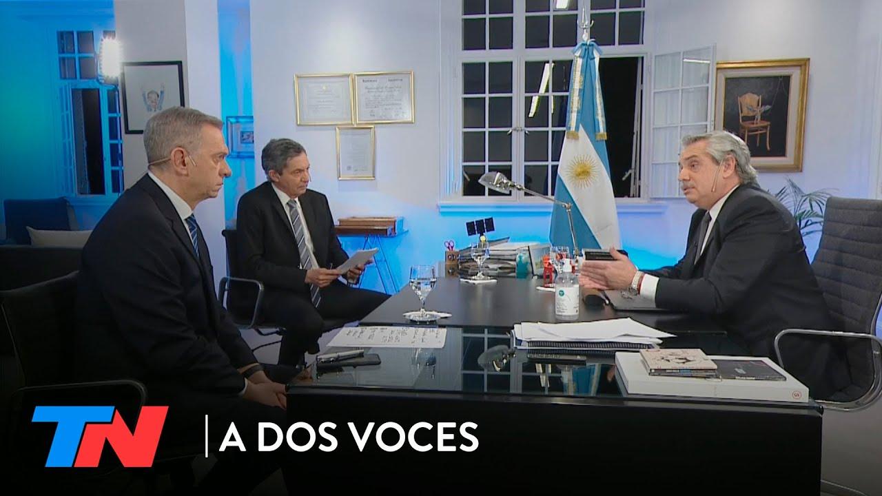 A DOS VOCES: ENTREVISTA A ALBERTO FERNÁNDEZ (2/9/2020)