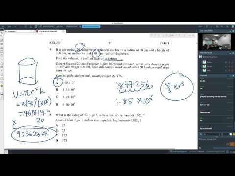 SPM Modern Math 2011 - Paper 1