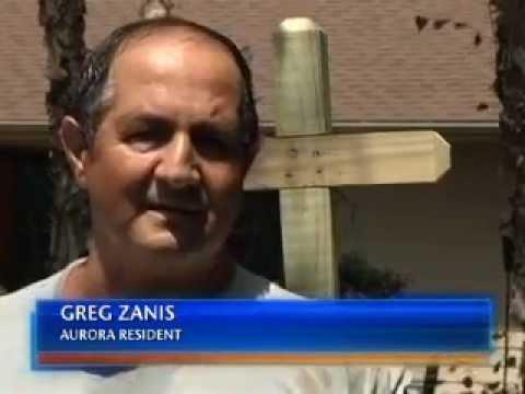 Aurora Man Lays Crosses In Honor of Movie Massacre Victims