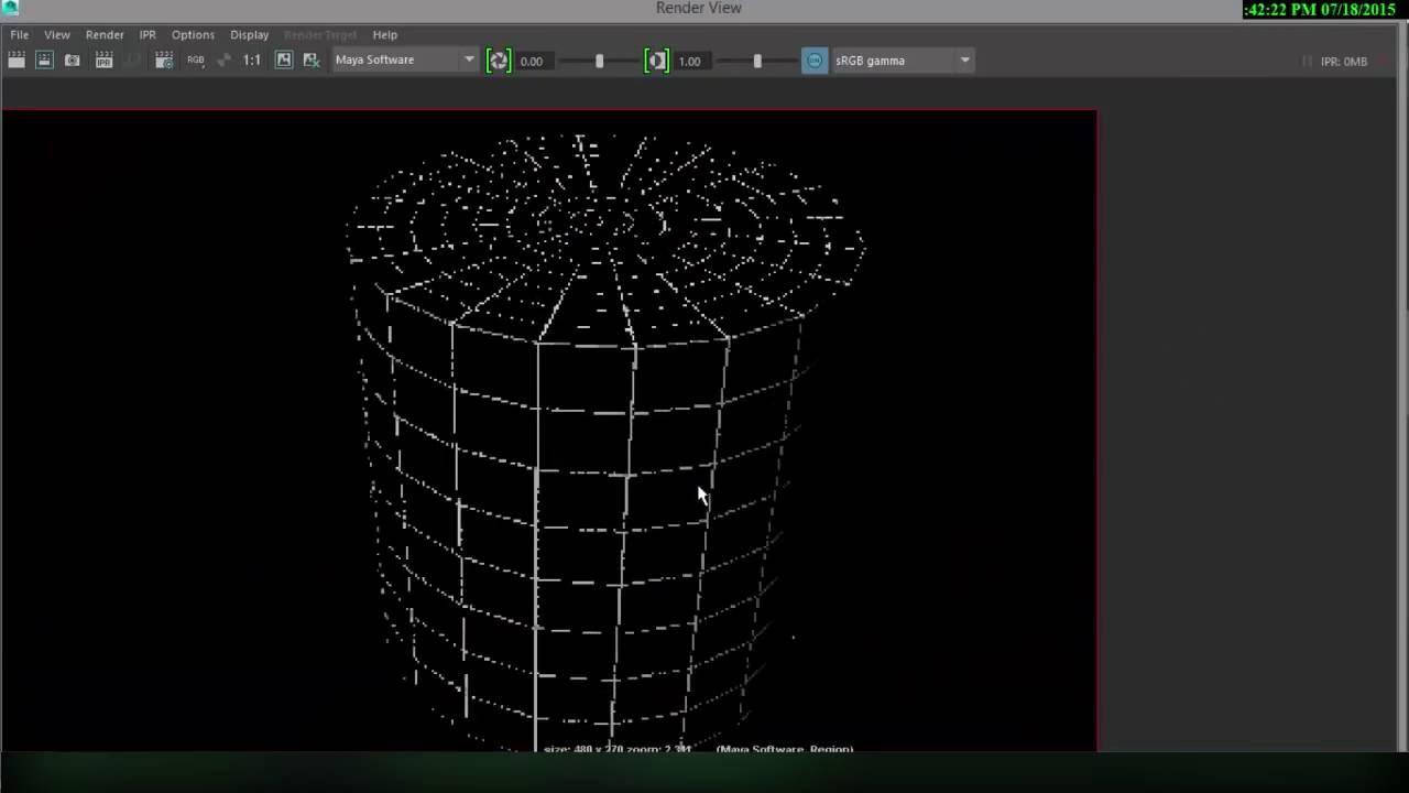 Maya 2016 wire-frame rendering with 2 different techniques - YouTube