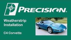 1984-1996 Chevrolet Corvette Windshield Header Weatherstrip Install