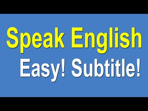Speaking English For Beginners - Speak English Learning Easy