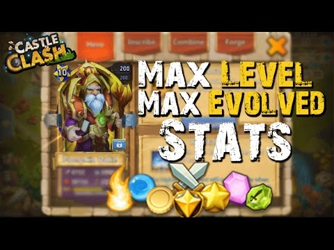 Castle Clash Max Leveled/Evolved Warlock (Stats) LVL 200