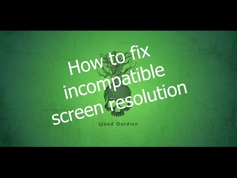 How to fix incompatible screen resolution in windows 7, 8, 8.1 and 10