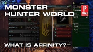 monster hunter world what is affinity