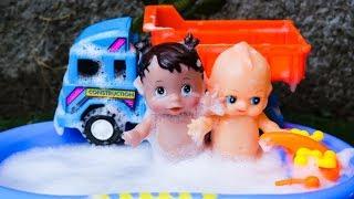 Construction vehicle Rescue Kids and Shower Kids - Wheel loader, Dump Truck