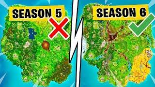 *LEAKED* Season 6 MAP! Loot Lake & Salty Springs Gone In Fortnite Battle Royale