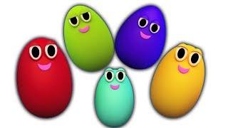sorpresa huevos dedo familia   dedo familia en español   niños rimas   Surprise Eggs Finger Family