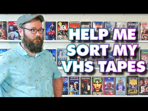 VHS Tape Spring Cleaning. Horror Action SciFi Movies What should I sell?
