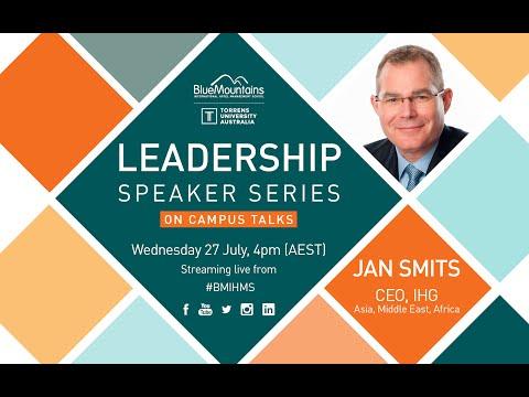BMIHMS at Torrens University Leadership Speaker Series - JAN SMITS