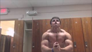 Swole Teen Bodybuilder Jamie Flexing Thick Pumped Up Muscles