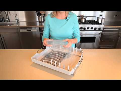 Oxo Good Grips Folding Stainless Steel Dish Rack Mesmerizing OXO Good Grips Foldaway Dish Rack 60 YouTube