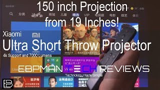 In-depth Review | New! 7000 Lumens Xiaomi WEMAX ONE Pro Ultra Short Throw Laser Projector 150 inch