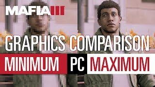 Mafia 3 Graphics Comparison / Grafikvergleich PC - Min. vs. Max.